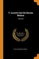 T  Lucreti Cari de Rerum Natura PDF