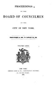 Proceedings of the Board of Councilmen of the City of New York: Volume 80