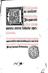 Aureum opus de veritate contritionis. In quo mirifica documenta eterne salutis salutis aperiuntur