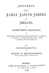 Specimens of the Early Native Poetry of Ireland