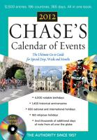 Chases Calendar of Events  2012 Edition PDF