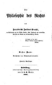 Die Philosophie des Rechts: Band 1