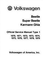 Volkswagen Beetle, Super Beetle, Karmann Ghia Official Service Manual