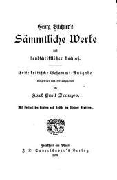 Georg Büchner's sämmtliche werke...