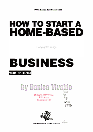 How to Start a Home based Catering Business PDF