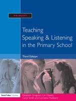Teaching Speaking and Listening in the Primary School PDF