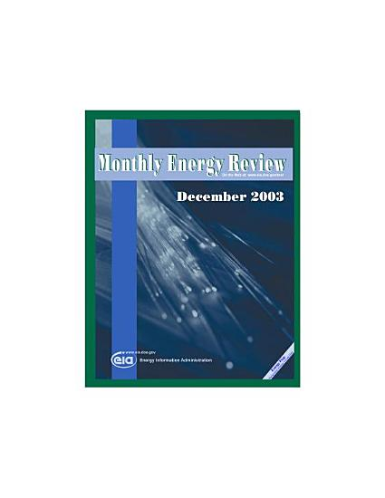 Monthly Energy Review  December 2003 PDF