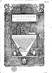 Repertorium in lecturas Iasonis. Index ordine elementario digestus, in commentaria Iasonis Mayni Mediolanensis, iureconsulti suae aetatis uere clarissimi : qui uniuersa, quae in ipsis commentarijs diffuse lateq[ue] parguntur, paucissimis uerbis, ueluti digito, commonstrat, qua quidem re, quid diuini, humaniq[ue] iuris candidati utilius magisq[ue] necessariu[m] offeri possit, minime uideo. Quando quidem hoc adiuti elencho, tantum non infinitis inuestigandi sudoribus exonera[n]tur, primoq[ue] statim intuitu , citra omnem labore[m] molestia[m]q[ue] quaecunq[ue] desidera[n]t, inuenient
