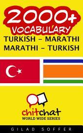 2000+ Turkish - Marathi Marathi - Turkish Vocabulary