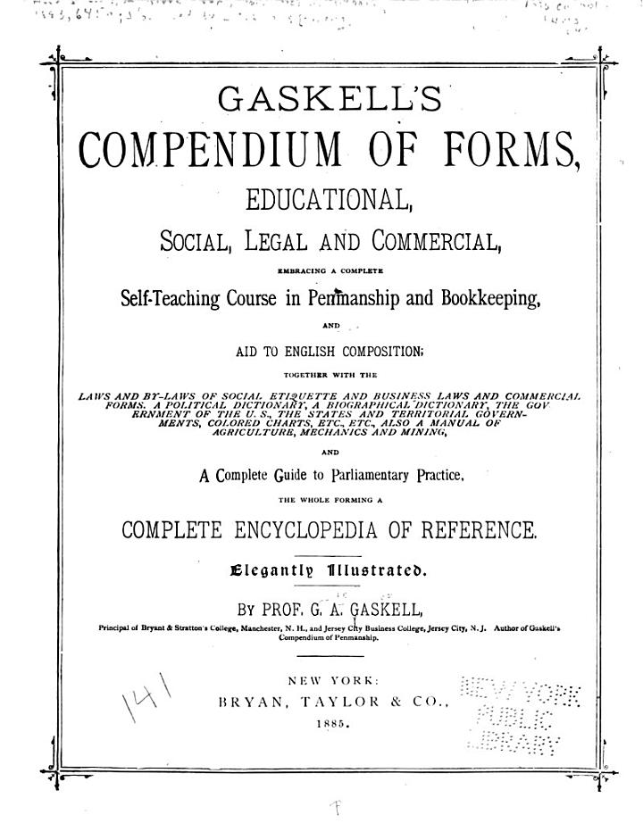 Gaskell's Compendium of Forms