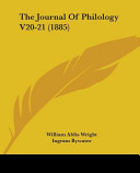 The Journal of Philology V20-21 (1885)