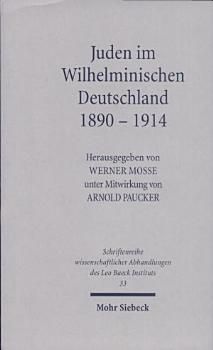 Juden im Wilhelminischen Deutschland  1890 1914 PDF