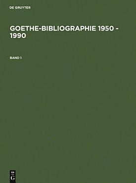 Goethe Bibliographie 1950   1990 PDF