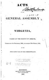 Acts of the General Assembly of the State of Virginia