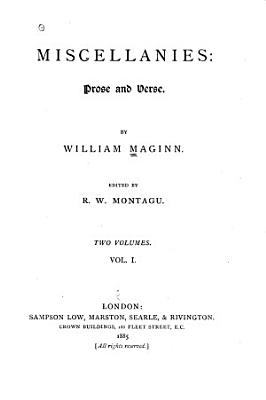 Miscellanies  Prose and Verse PDF