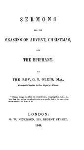 Sermons for the seasons of Advent, Christmas, and the Epiphany
