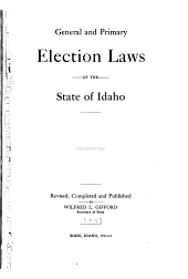 Primary and General Election Laws