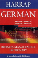 Harrap German Business Management Dictionary