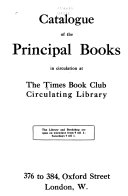 Catalogue of the Principal Books in Circulation at the Library PDF