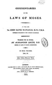 Commentaries on the Laws of Moses: Volume 4