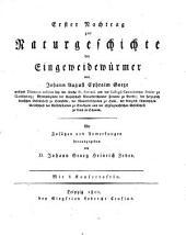 Erster Nachtrag zur Naturgeschichte der Eingeweidewürmer