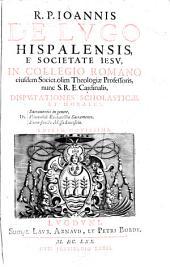 Disputationes scholasticae de sacramentis, eucharistia, missa