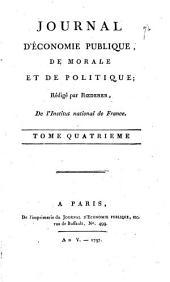 Mémoires d'économie publique, de morale, et de politique: Volume4