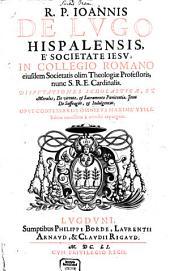 Disputationes scholasticae de virtute et sacramento poenitentiae
