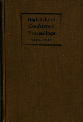 Proceedings of the High School Conference of ...