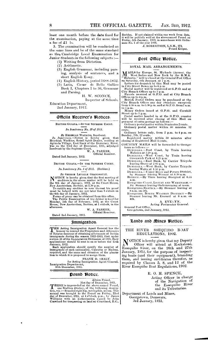 The Official Gazette of British Guiana