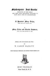 Shakespeare Jest-books: Reprints of the Early and Very Rare Jest-books Supposed to Have Been Used by Shakespeare, Volume 1