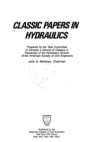 Classic Papers in Hydraulics PDF