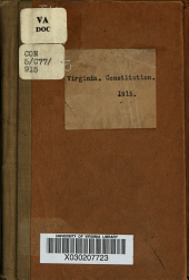 Constitution of Virginia: Volume 603, Issue 3