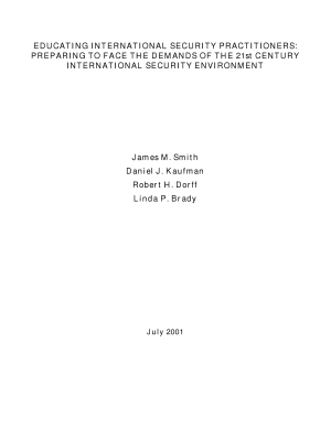Educating International Security Practitioners  Preparing to Face the Demands of the 21st Century International Security Environment PDF