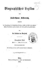 Biographisches Lexicon des Kaiserthums Österreich, enthaltend die Lebensskizzen der denkwürdigen Personen, welche 1750 bis 1850 im Kaiserstaate und in seinen Kronländern ... gelebt haben: Band 31