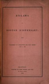 Annual Report of the Boston Dispensary