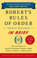 Robert s Rules of Order Newly Revised In Brief  3rd edition PDF