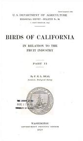 Birds of California in relation to the fruit industry: Volume 2