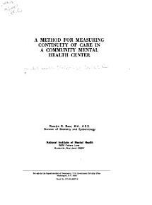 Report Series on Mental Health Statistics PDF
