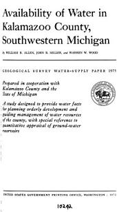 Geological Survey Water-supply Paper: Issue 1973