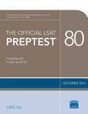The Official Lsat Preptest 80