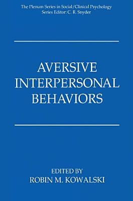 Aversive Interpersonal Behaviors PDF