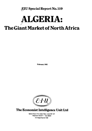 Algeria  the Giant Market of North Africa PDF