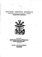 De optimo genere interpretandi, in Aristotelis Commentarii
