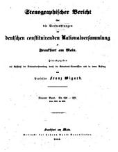 Stenographischer Bericht über die Verhandlungen der Deutschen consituirenden Nationslversammlung zu Frankfurt am Main: Band 9