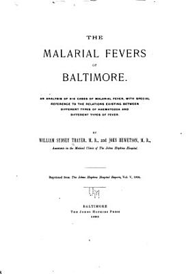 The Malarial Fevers of Baltimore PDF