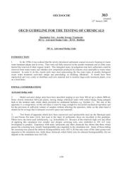 OECD Guidelines for the Testing of Chemicals / Section 3: Degradation and Accumulation Test No. 303: Simulation Test - Aerobic Sewage Treatment -- A: Activated Sludge Units; B: Biofilms