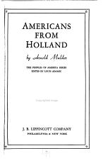 Americans from Holland PDF