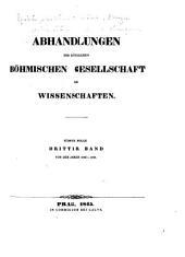 Abhandlungen der königlichen böhmischen Gesellschaft der Wissenschaften: Band 3