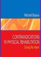 Contraindications in Physical Rehabilitation   E Book PDF